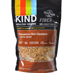 HGR1028596 - Kind - Healthy Grains Cinnamon Oat Clusters with Flax Seeds - 11 oz - Case of 6