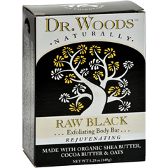 HGR1053396 - Dr. WoodsBar Soap Raw Black - 5.25 oz