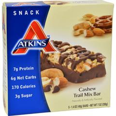 HGR1061175 - AtkinsAdvantage Bar Cashew Trail Mix - 5 Bars