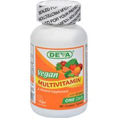 HGR0107094 - Deva Vegan VitaminsMultivitamin and Mineral Supplement - 90 Coated Tablets