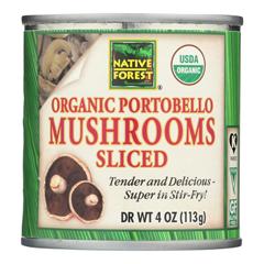 HGR1073196 - Native Forest - Organic Sliced Portobello - Mushrooms - Case of 12 - 4 oz..