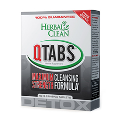 HGR1073543 - Herbal CleanDetox QTabs Maximum Strength Cleansing Formula - 10 Tablets