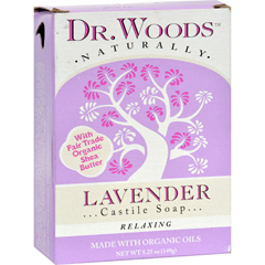 HGR1076744 - Dr. WoodsCastile Bar Soap Lavender - 5.25 oz