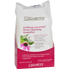 HGR1083260 - Giovanni Hair Care ProductsGiovanni Facial Cleansing Towelettes - Unscented - 30 Pre-moistened Towelettes