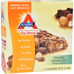 HGR1087881 - AtkinsDay Break Bar Chocolate Hazelnut - 5 Bars