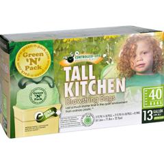 HGR1106707 - Green-n-PackTall Kitchen Trash Bags - 13 Gallon - 40 Pack