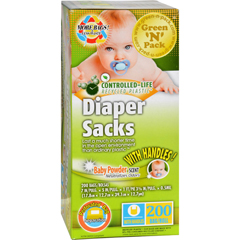 HGR1106764 - Green-n-PackDisposable Diaper Bags - Scented - 200 Pack