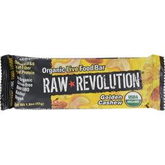 HGR1113257 - Raw RevolutionBar - Organic Golden Cashew - Case of 12 - 1.8 oz