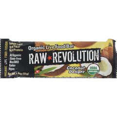HGR1113281 - Raw RevolutionBar - Organic Coconut Delight - Case of 12 - 1.8 oz