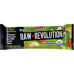 HGR1113315 - Raw RevolutionBar - Organic Spirulina Dream - Case of 12 - 1.8 oz
