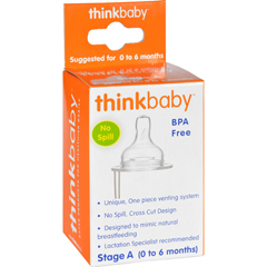 HGR1114271 - ThinkbabyStage A Nipple with Vent (0-6 Months) - 2 Pack