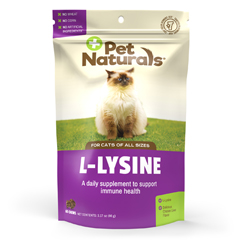 HGR1120195 - Pet Naturals of VermontL-Lysine for Cats Chicken Liver - 60 Chewables