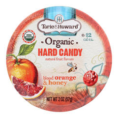 HGR1124288 - Torie and Howard - Organic Hard Candy - Blood Orange and Honey - 2 oz.. - Case of 8