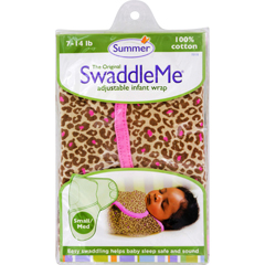 HGR1125285 - Summer InfantSwaddleMe Adjustable Infant Wrap - Small/Medium 7 - 14 lbs - Leopard