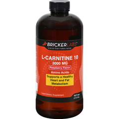 HGR1125921 - Bricker LabsCarnipure L-Carnitine Raspberry - 3000 mg - 16 fl oz