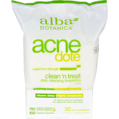 HGR1126879 - Alba BotanicaAcnedote Clean Treat Towel - 30 Pack