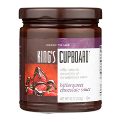 HGR1130525 - The King's Cupboard - Dessert Sauces - Bittersweet Chocolate - Case of 12 - 10.4 oz..