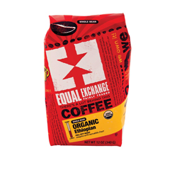 HGR1130780 - Equal Exchange - Organic Whole Bean Coffee - Ethiopian - Case of 6 - 12 oz..
