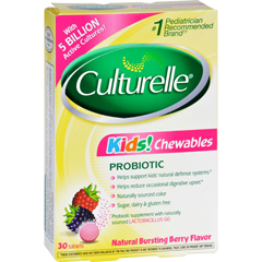 HGR1131622 - CulturelleKids Chewables Probiotic Natural Bursting Berry - 30 Chewable Tablets