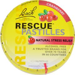 HGR1137132 - BachRescue Remedy Pastilles - Cranberry - 50 grm - Case of 12