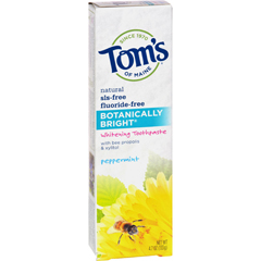 HGR1137918 - Tom's of MaineBotanically Bright Whitening Toothpaste Peppermint - 4.7 oz - Case of 6