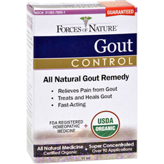 HGR1138171 - Forces of NatureOrganic Gout Control - 11 ml