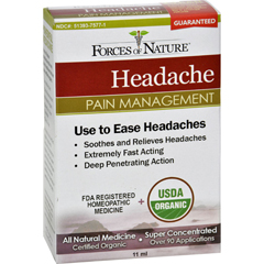 HGR1138254 - Forces of NatureOrganic Headache Pain Management - 11 ml