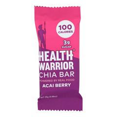 HGR1140508 - Health Warrior - Chia Bar - Acai Berry - .88 oz.. Bars - Case of 15