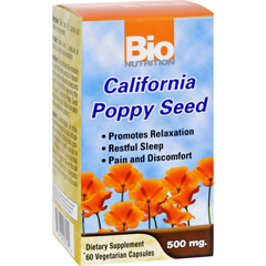 HGR1147487 - Bio NutritionCalifornia Poppy Seed - 500 mg - 60 Vegetarian Capsules