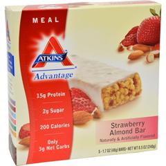 HGR1151323 - AtkinsAdvantage Bar Strawberry Almond - 5 Bars