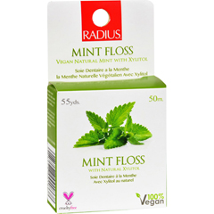 HGR1152321 - RadiusMint Floss with Natural Xylitol - 55 yards - Case of 6