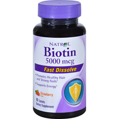 HGR1155167 - NatrolBiotin - Fast Dissolve - Strawberry - 5000 mcg - 90 Tablets