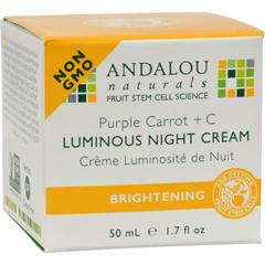 HGR1162551 - Andalou NaturalsLuminous Night Cream Purple Carrot + C - 1.7 oz