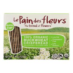 HGR1174408 - Le Pain Des Fleurs - Organic Crisp Bread - Buckwheat - Case of 6 - 4.41 oz..