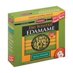 HGR1186949 - Seapoint Farms - Dry Roasted Edamame - Spicy Wasabi - Case of 12 - 0.79 oz..