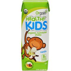 HGR1189786 - Orgain - Organic Nutrition Shake - Vanilla Kids - 8.25 fl oz - Case of 12