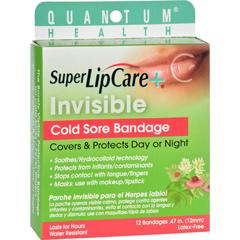 HGR1190743 - Quantum ResearchLipcare Plus Invisible Cold Sore Bandage - 12 count