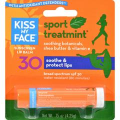 HGR1191469 - Kiss My FaceLip Balm Sport - Mint - SPF 30 - Case of 12 - .15 oz