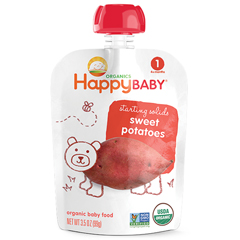 HGR1191626 - Happy BabyFood - Organic - Starting Solids - Sweet Potatoes - 4 Plus Months - Stage 1 - 3.5 oz - Case of 16