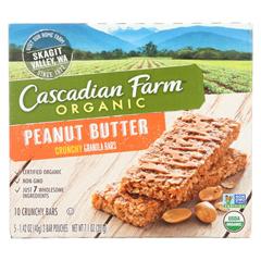 HGR1192012 - Cascadian Farm - Crunchy Granola Bars - Peanut Butter - Case of 12 - 7.1 oz..