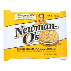 HGR1193614 - Newman's Own Organics - Creme Filled Cookies - Vanilla - Case of 6 - 13 oz..