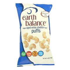HGR1196674 - Earth Balance - Vegan Puffs - Aged White Cheddar - Case of 12 - 4 oz..