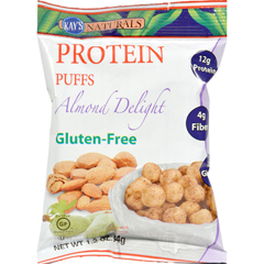 HGR1198977 - Kay's NaturalsProtein Puffs - Almond Delight - Case of 6 - 1.2 oz