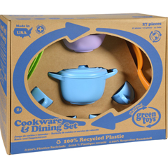 HGR1203264 - Green ToysCookware and Dinnerware Set - 27 Piece Set