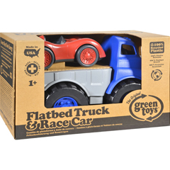 HGR1203322 - Green ToysFlatbed Truck with Red Racecar