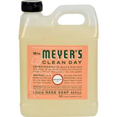HGR1205384 - Mrs. Meyer'sLiquid Hand Soap Refill - Geranium - 33 lf oz - Case of 6