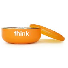HGR1205418 - ThinkbabyBPA Free Low Wall Baby Bowl - Orange