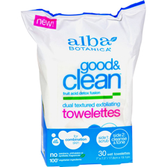 HGR1208347 - Alba BotanicaGood and Clean Exfoliating Towelettes - 30 count