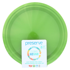 HGR1210129 - Preserve - On the Go Large Reusable Plates - Apple Green - 8 Pack - 10.5 in