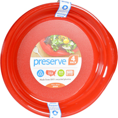HGR1210210 - PreserveEveryday Plates - Pepper Red - 4 Pack - 9.5 in